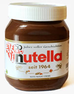 50 years of Nutella - anniversary glass in Germany